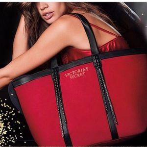 Handbags - Victoria's Secret red tote bag w/ FREE sample